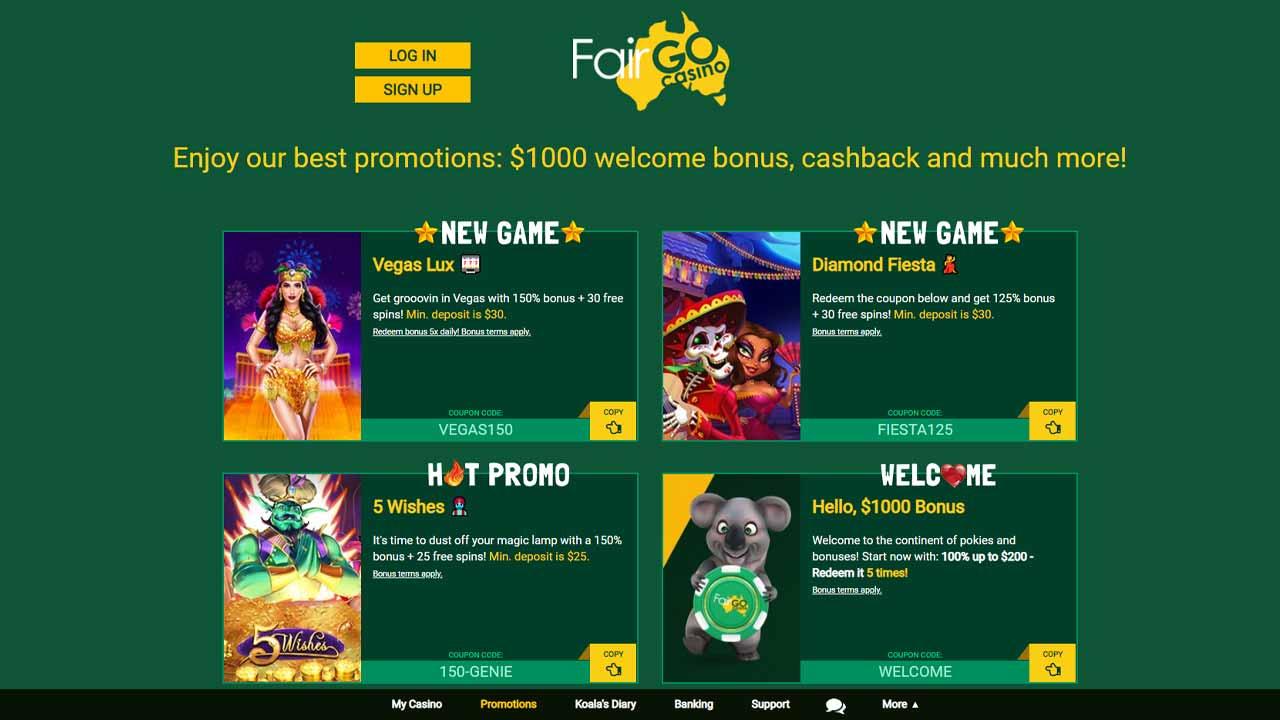 Fair Go Casino Review 1000aud Welcome Bonus